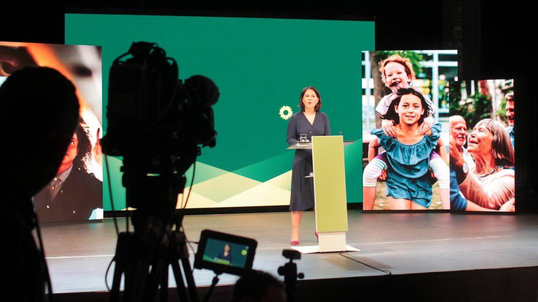 Annalena Bärbock bei der Bekanntgabe ihrer Kanzlerkandidatur