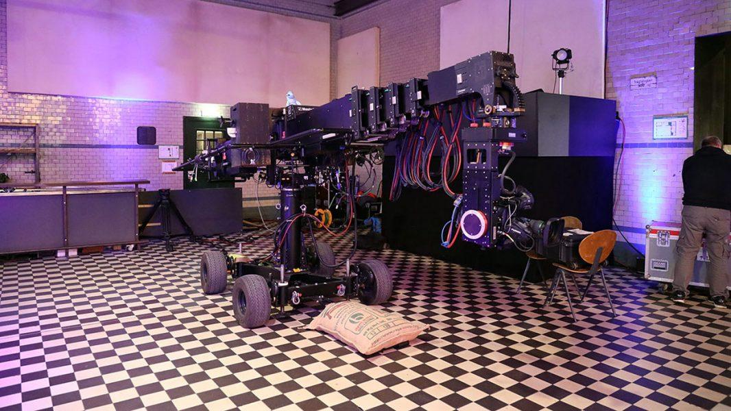 Kamerakran in der Maschinenhalle