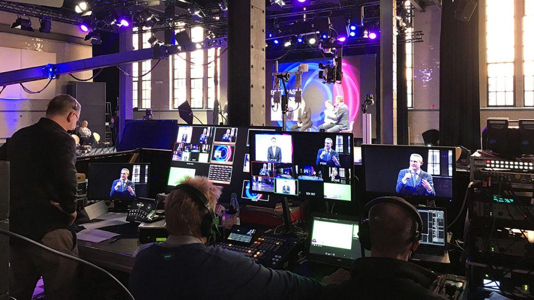 Regietechnik bei einem Streaming Event