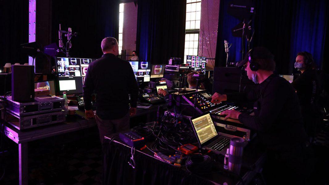 Ton- und Lichttechnik in einem Streaming-Studio