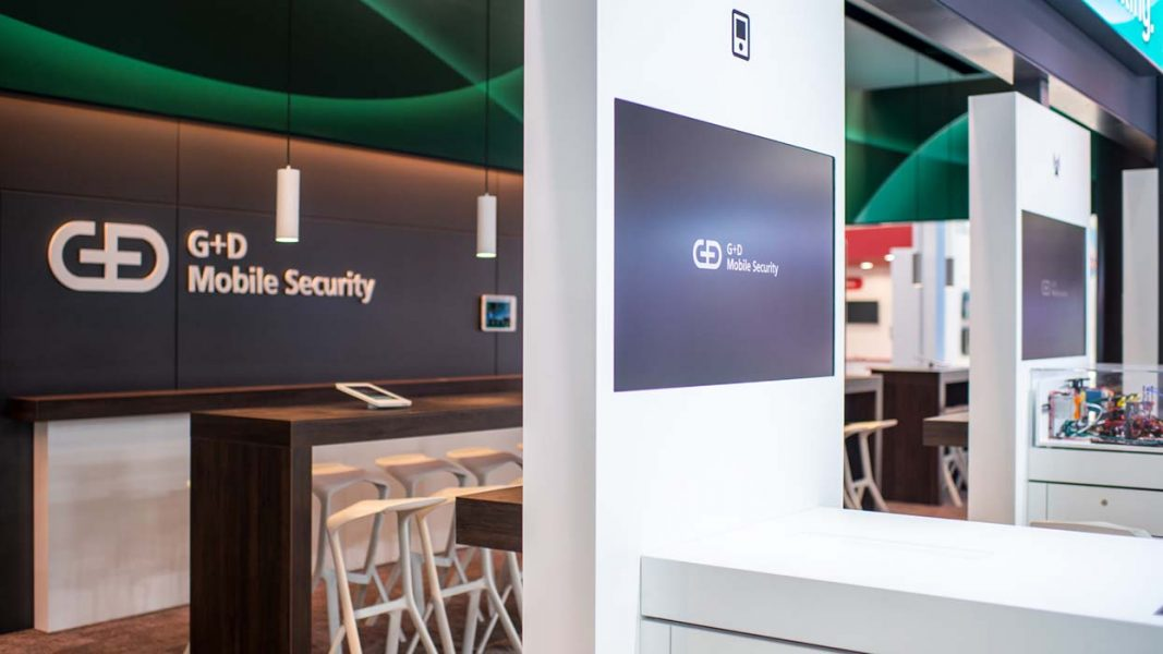 MWC-2019_ICT-AG_G+D-Mobile_Security_Messestand_Display
