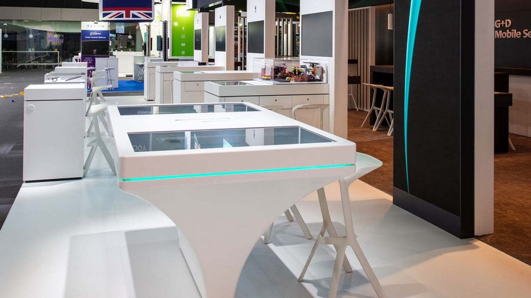 MWC-2019_ICT-AG_G+D-Mobile_Security_Messestand_Nah 2